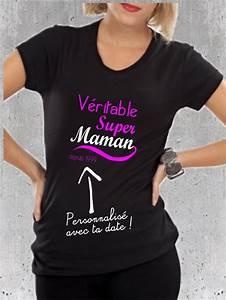 T Shirt Avec Message : t shirt cadeau pour super maman tee shirt message pour maman pinterest ~ Nature-et-papiers.com Idées de Décoration