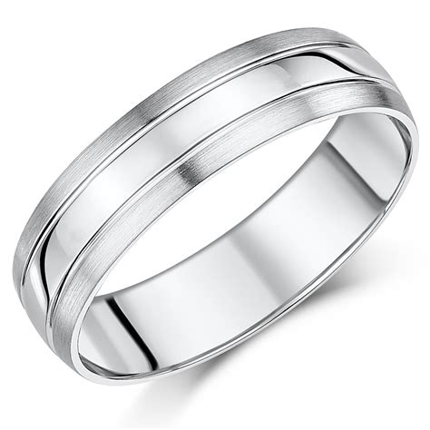 6mm palladium 950 matt polished wedding ring band palladium 950 at elma uk jewellery