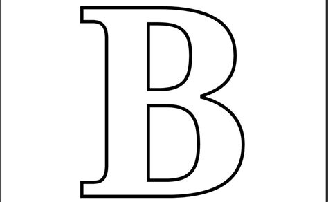 Printable Letter B Coloring Page