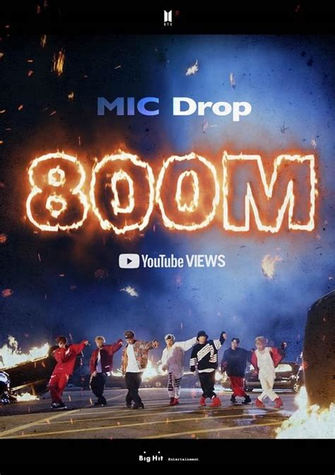 BTS Hits 800 Million YouTube Views With