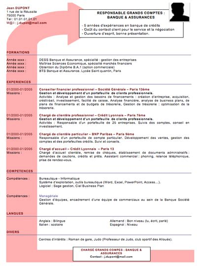 Créer Cv by Resume Format Mod 232 Le Cv Cadre