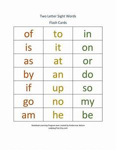 Two Letter Sight Word Workbook Worksheets For By