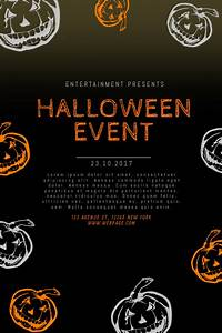 Flyers Design Products Halloween Event Flyer Template Postermywall