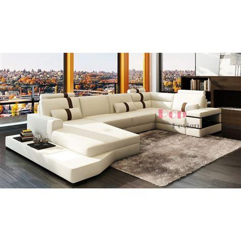 canapé panoramique canapé d 39 angle panoramique en cuir véritable sydney pop