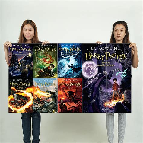 harry potter books block giant wall art poster