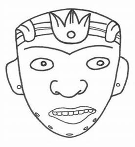 aztec mask template - mayan masks template new calendar template site
