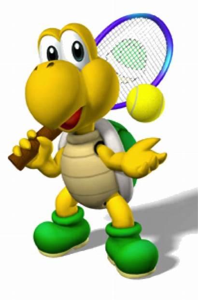 Koopa Troopa Play Tennis Turtle Usta Stalling