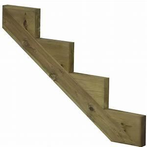 Bois Autoclave Classe 4 : limon 4 marches pour escalier de jardin en bois autoclave ~ Premium-room.com Idées de Décoration