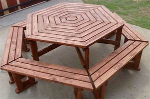 Octagon Patio Table Plans - White Benchmark Octagon Table