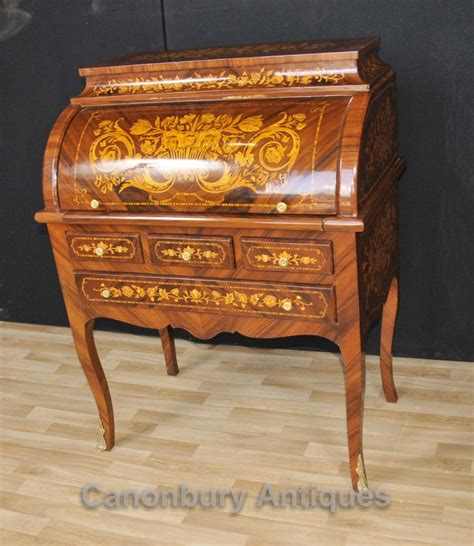 tables bureau louis xv roll top desk bureau writing table inlay