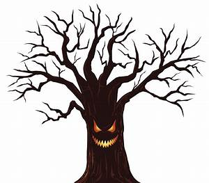 Halloween clipart spooky tree - Pencil and in color ...