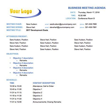 Time Agenda Template Word by Free Meeting Agenda Templates Smartsheet