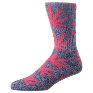 Grey and Pink HUF Socks