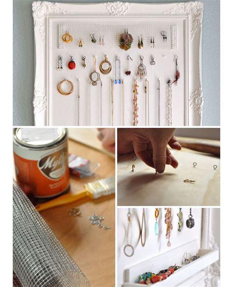 diy jewelry storage ideas  small bedrooms organizing