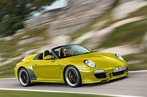 yellow porsche car pictures images  super hot yellow