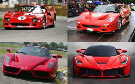By The Numbers Ferrari Laferrari, Enzo, F50, F40
