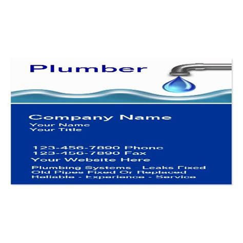 plumbing business cards zazzle