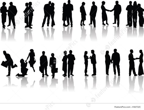 office people silhouettes stock illustration