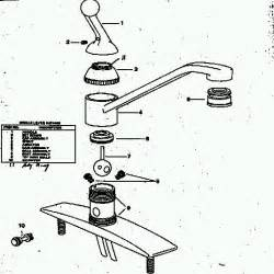 delta kitchen faucet parts diagram single handle