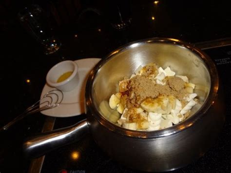 melting pot bananas foster fondue recipe food