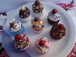 110 best about cold porcelain food on miniature cup cakes and clay