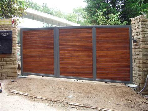 wood and metal gates automated residential metal and wooden gates