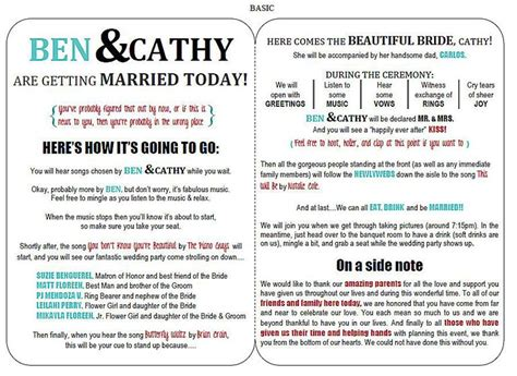 free wedding program templates free printable wedding program templates you ll