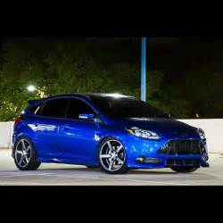 Amazing blue ford focus st mk3, big silver rims, ST from