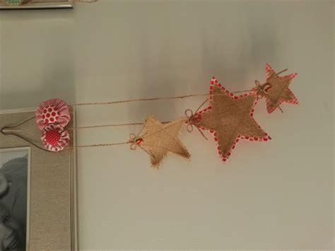 door wall hanging christmas red burlap hessian decorations