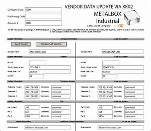 Sap change vendor xk01 and xk02 automate with winshuttle for User creation form template