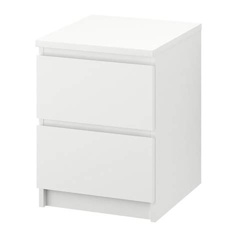Lade Letto Malm Ladekast 2 Lades Wit Ikea