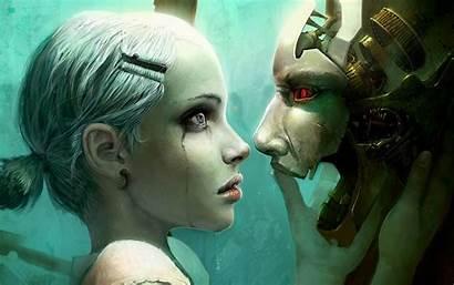 Fantasy Wallpapers Backgrounds Digital Woman Desktop Cyborg