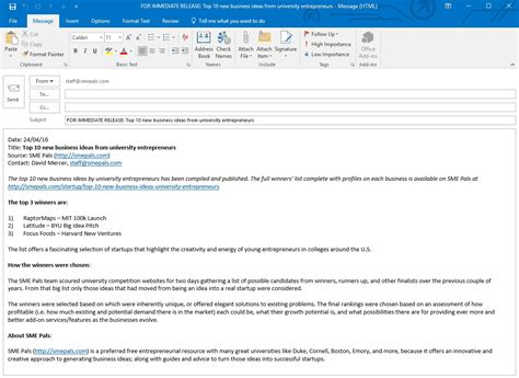 press release email template how to write a press release and actually get publicity