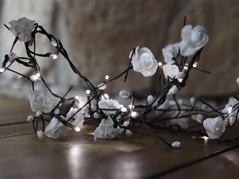 Led Rosen Girlande Weiß 16 Leds Für Innen / Lichterkette Deko