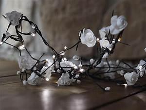 Lichterkette Innen Deko : led rosen girlande wei 16 leds f r innen lichterkette deko ~ Eleganceandgraceweddings.com Haus und Dekorationen