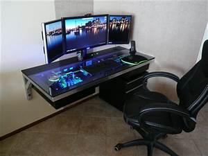 Pc Tisch Gamer : pc tisch hardware im tisch eingebaut gaming m bel ~ A.2002-acura-tl-radio.info Haus und Dekorationen