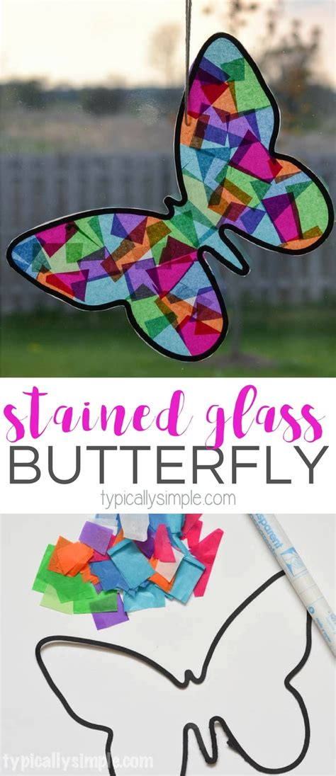 Stained Glass Butterfly Craft Typically Simple
