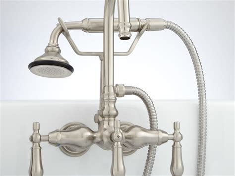 Kingston Brass Wall Mount Kitchen Faucet With Sprayer