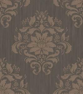 chambord 212077 grandeco tapete papier neu ornamente With balkon teppich mit ornament tapete braun