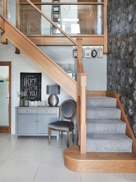 oak stair treads modern oak and glass staircases jarrods staircases