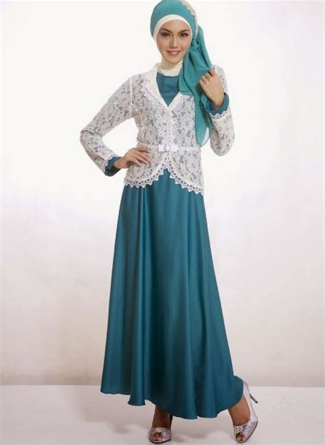 Maxi By Dapis Shop model baju pesta muslim dengan blazer brokat