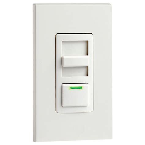 leviton decora illumatech dimmer wled locator  preset switch white  home depot canada