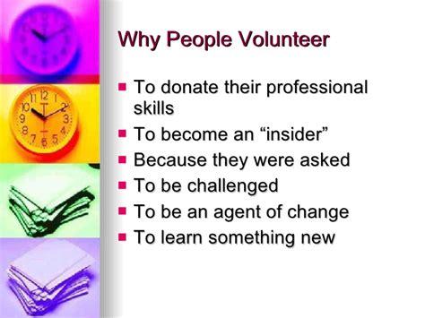 volunteering powerpoint
