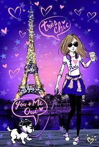 Paris Wallpaper Cute Purple - impremedia.net