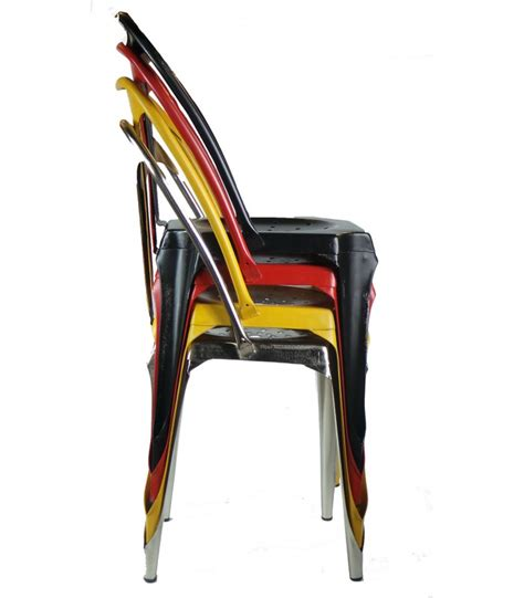 chaise métal industriel industrial style chair in yellow vintage metal wadiga com