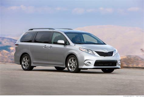 consumer reports  reliable cars minivan toyota