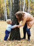 Mother And Son Play Hide-and-seek Stock Photography ...