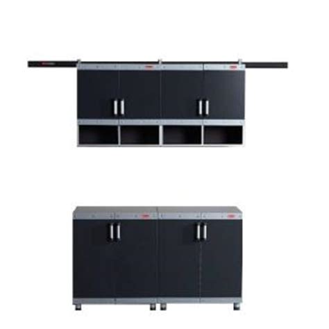 rubbermaid storage cabinets home depot rubbermaid fasttrack garage laminate 4 piece cabinet set