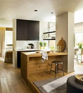 decouvrir la beaute de la petite cuisine ouverte With meuble bar pour cuisine ouverte 0 la cuisine en u avec bar voyez les derniares tendances