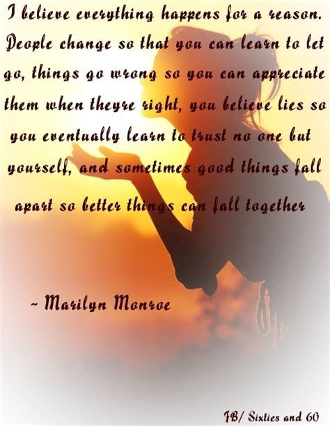 Things Happen Reason Quotes Marilyn Monroe
